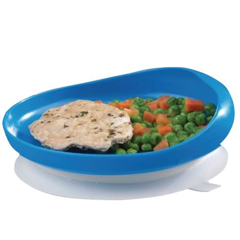 "Maddak Scooper Plate With Suction Cup Base,6.75""D,Sooper Plate,Each,920479"