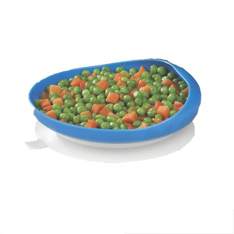 """Maddak Eating Scooper Plate with Suction Cup Base,6.625"""" x 6.625"""" x 2.75"""",Each,F745350012 MADF745350012"""