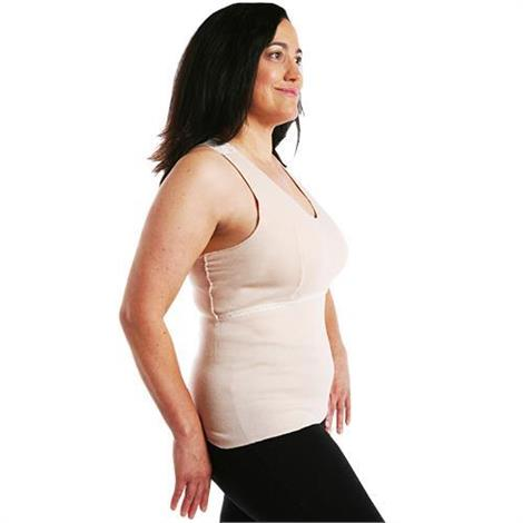"""Softee Vee Beige Prosthetic Camisole,Large,16"""" to 18"""",Each,528"""