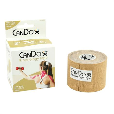 "CanDo Kinesiology Tape,2"" x 103 Ft Roll,Beige,Each,24-4860"