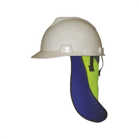 TechNiche Hyperkewl Evaporative Cooling Neck Shade,Hi-Viz Lime Outer,Blue Inner,Each,6525