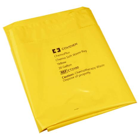 Covidien Kendall Chemo Waste Bag,15 Gallon,100/Case,DP5042B