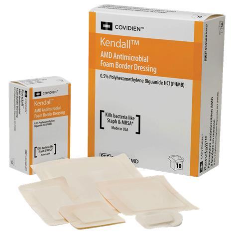 """Covidien Kendall AMD Antimicrobial Foam Dressing ,8"""" x 8"""" (20.3cm x 20.3cm),Each,55588AMD"""