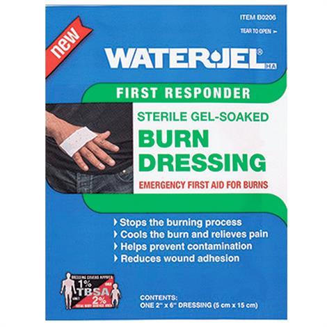 "Water-Jel Sterile Gel-Soaked Burn Dressing,2"" x 6"",60/Case,B0206-60"