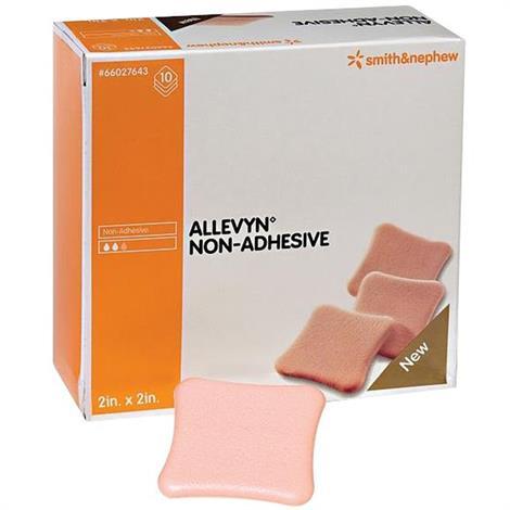 "Allevyn Non-Adhesive Foam Dressing,2"" x 2"",10/Pack,66027643"