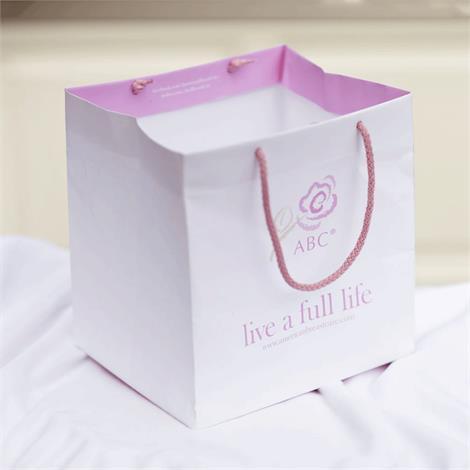 ABC Shopping Bag,Shopping Bag,White,Each,PRO2027