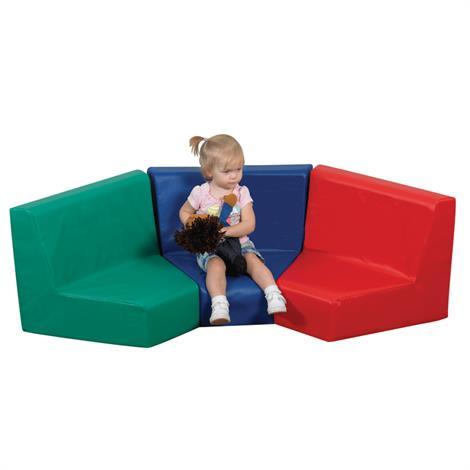 Childrens Factory Modular Seating,3 Piece,Each,CF322-407