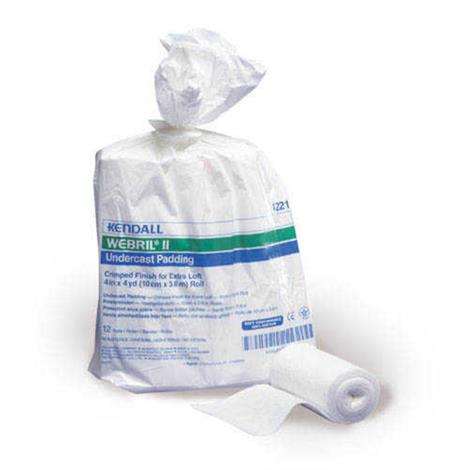 "Covidien Kendall Webril II Cotton Undercast Padding,4"" x 4yd,Non Sterile,12/Pack,4221"