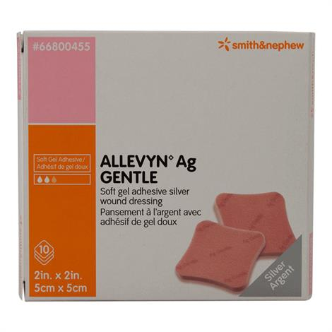 """Allevyn Ag Gentle Adhesive Silver Dressing,2"""" x 2"""",Each,66800455 - from $8.89"""