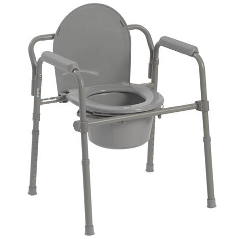 Drive Folding Steel Bedside Commode,Commode,Each,11148-1