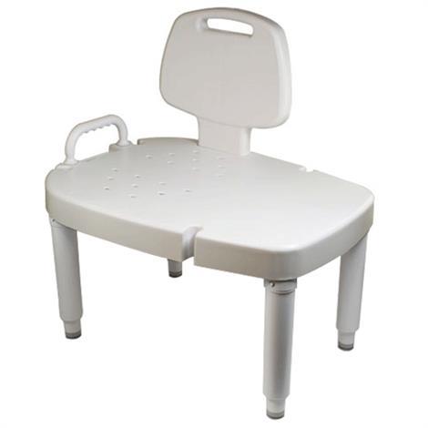 Maddak Bath Safe Adjustable Transfer Bench,Transfer Bench,Each,F727142601