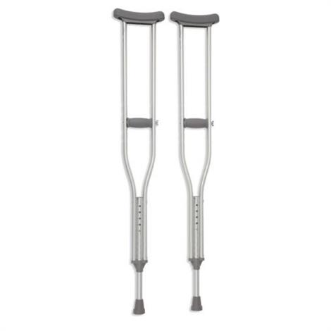 "Cardinal Health Push Button Adjustable Axillary Crutch,300lbs,52"" to 62"" Adjustable Height,Pair,CA901YTH"