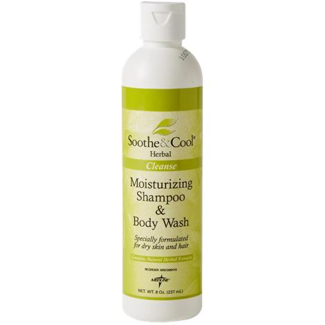 Medline Soothe and Cool Herbal Shampoo and Body Wash,1 gallon Screw Top Bottle,4/Case,MSC096412