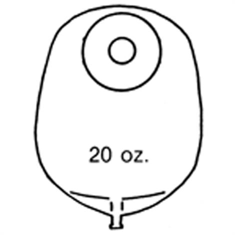 "Image of Nu-Hope Nu-Flex Round Post-Operative Mid-Size Urinary Pouch With Flutter Valve,Opening 2"" (5cm),with Flutter Valve,10/Pack,7666-FV"