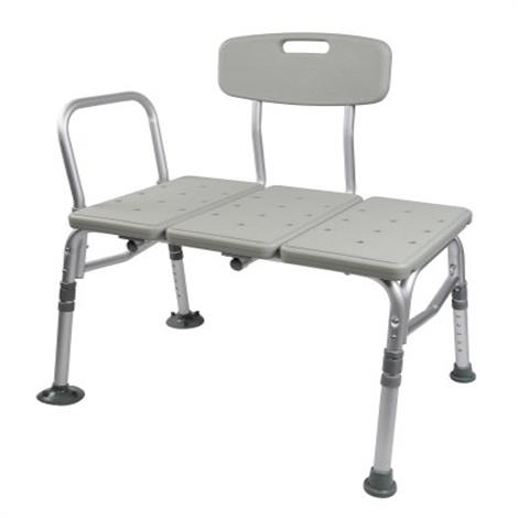 McKesson Aluminum Transfer Bench with Reversible Back,Transfer Bench,2/Case,146-12011KD-2