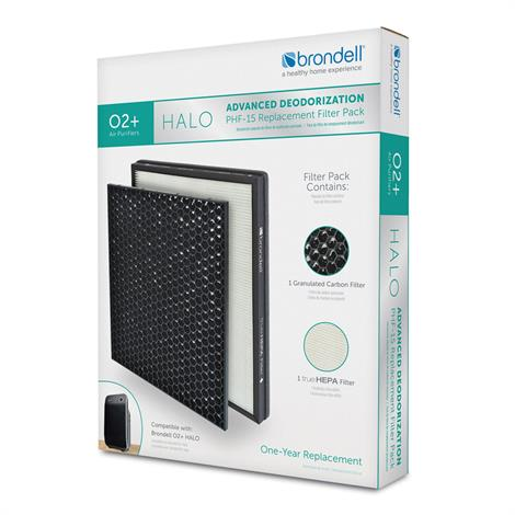 Brondell Advanced Deodorization Replacement Filter Pack For O2+ Halo Air Purifier,Advanced Deodorization Replacement Filter Pack,Each,PHF-15 BRIPHF-15
