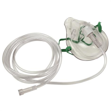 Allied Simple Medium Concentration Oxygen Mask,Adult,50/Pack,64041