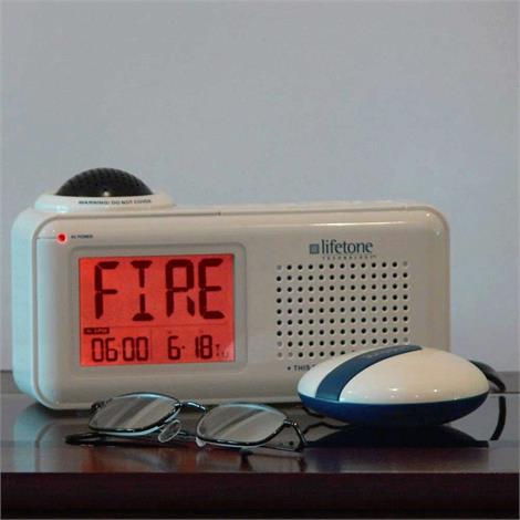 Lifetone HLAC151 Bedside Vibrating Fire Alarm and Clock,HLAC151 Bedside Vibrating Fire Alarm and Clock,Each,HC-LIFETONE2
