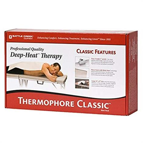 "Battle Creek Thermophore Classic Plus Deep-Heat Therapy Pack,Large,14"" x 27"",Each,255"