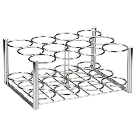 Drive Chrome Plated Steel Oxygen Cylinder Rack,For use with (6) D or E Style Cylinders,Each,18111 DRV18111
