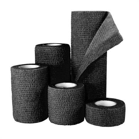 MedPride Self Adherent Wrap,Black, 6 x 5 Yards,12/Case,MPR-65005