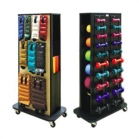 "Hausmann Econo Mobile Weight Rack,30""W x 18""D x 59-1/2""H,Each,5566"