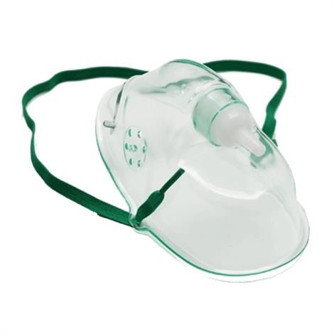 Graham-Field John Bunn Simple Oxygen Mask,Adult,With 7 ft Tubing,Green,50/Pack,GF64041