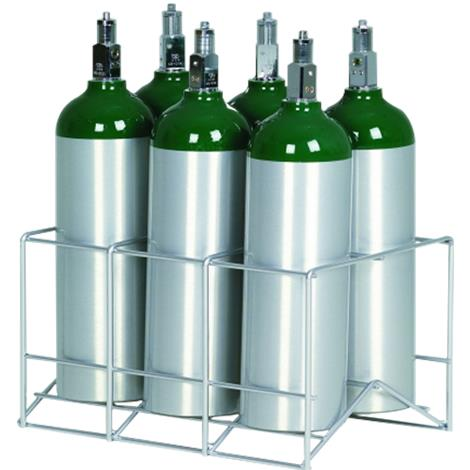 Responsive Respiratory Six Cylinder D E M9 Rack,6 Cylinder Carry Rack,Each,150-0261 RRI150-0261