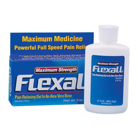 ARI Medical Flexall 454 Maximum Strength Pain Relieving Gel,16oz Bottle,Each,87412