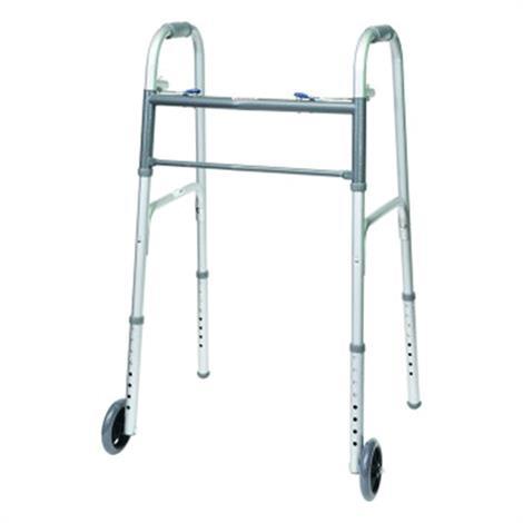 ProBasics Economy Two-Button Steel Walker,With 5 Wheels,Each,WKSAW2B