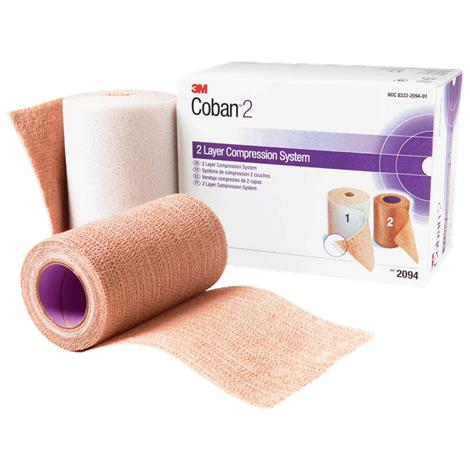 3M Coban Two Layer Compression System,Tan,8/Case,2094