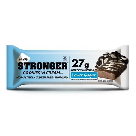 NuGo Stronger Bar,Caramel Pretzel, 12/2.82oz,12/Pack,270551