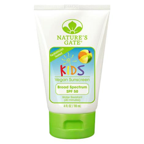 Natures Gate Fragrance Free SPF 50 Kids Sunscreen Lotion,4fl oz Tube,Each,206309