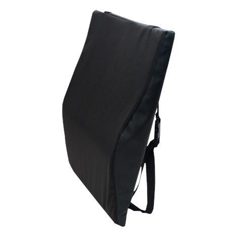 """Bilt-Rite Black Wheelchair Back Cushion,16""""L x 18""""W,Each,FO350"""
