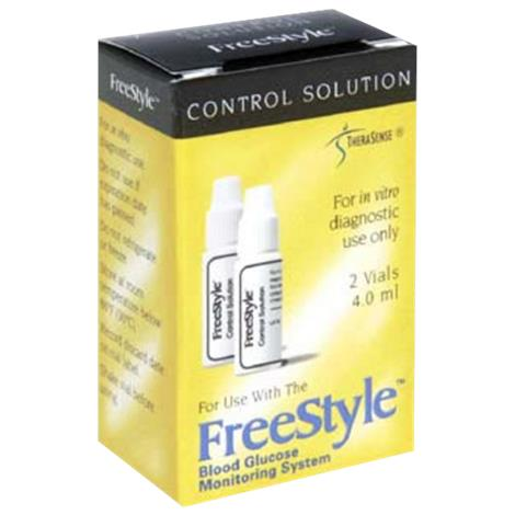Abbott FreeStyle Control Solution,4ml,2/Pack,14002