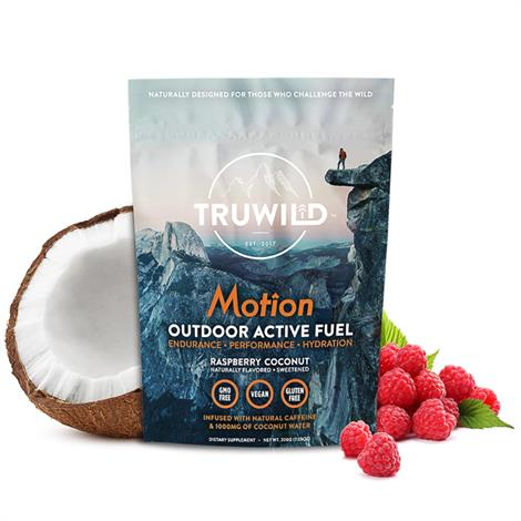 Truwild Motion Pre Workout Powder Drink,Raspberry Coconut,0.45lbs,Each,TruMotion101