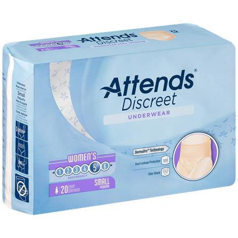Attends Discreet Gender Specific Underwear for Women,Large,18/Pack,4PK/Case,ADUF30