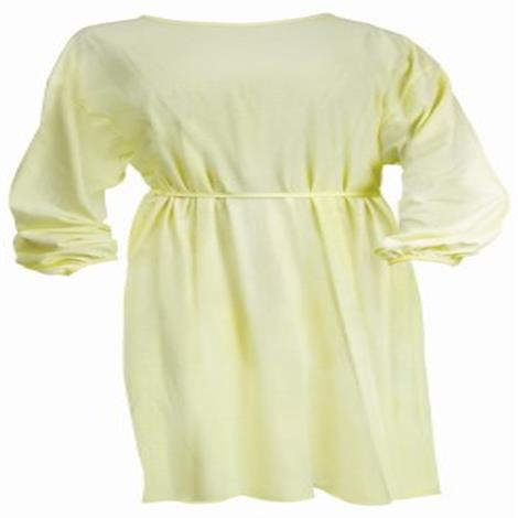 McKesson Yellow Protective Procedure Gown,Procedure Gown,Yellow,Adult,50/Case,WRTGOWN2