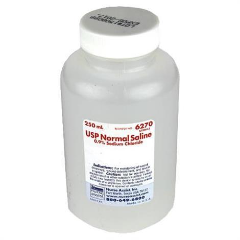 Nurse Assist USP Normal Sterile Saline For Irrigation,100mL USP Normal Saline Screw Top Container,48/Pack,6240