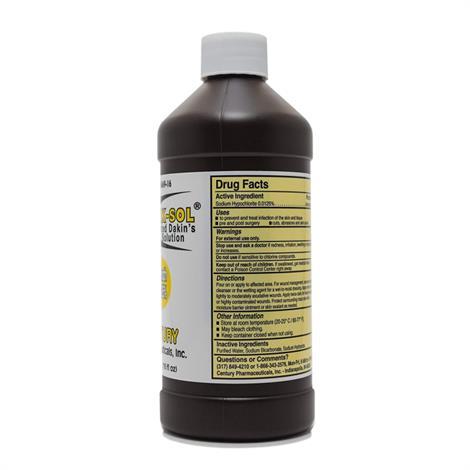 Century Pharmaceuticals Di-Dak-Sol Diluted Dakins Solution,16Oz,Each,0436-0669-16