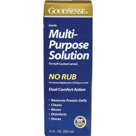 GoodSense Multi-Purpose Saline Solution,12 oz,Each,GDDKC00020