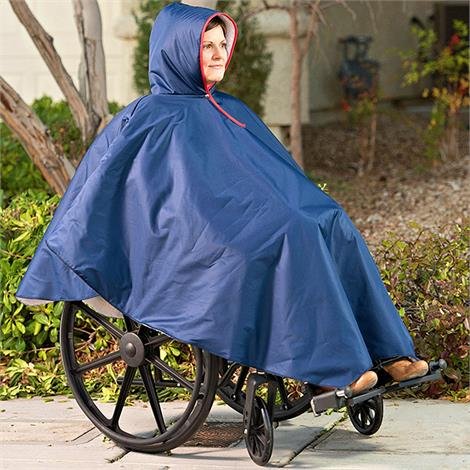 CareActive Wheelchair Rain Poncho,Black Rain Poncho,12/Case,9660-0-BLK