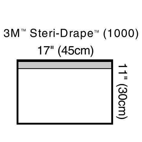 "3M Steri-Drap Towel Drape With Adhesive Strip,Small - 17-5/8"" x 11-3/4"",10/Pack,1000"