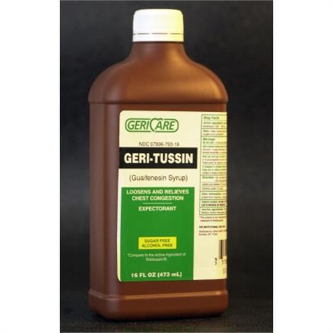 McKesson Geri-Tussin Guaifenesin Syrup,McKesson Geri-Tussin Guaifenesin Syrup,12/Case,QROB-16-GCP