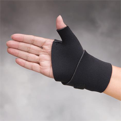 Comfortprene Neoprene Long Thumb And Wrist Wrap,Medium,Black,Each,Nc58611-2
