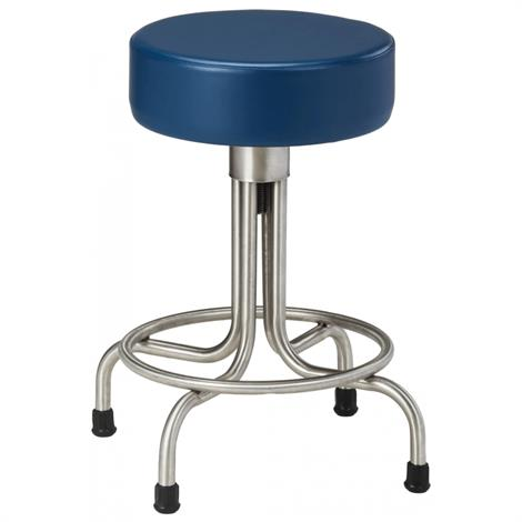 Clinton Stainless Steel Stool with Rubber Feet and Upholstered Top,Allspice (3AS),Each,SS-2149