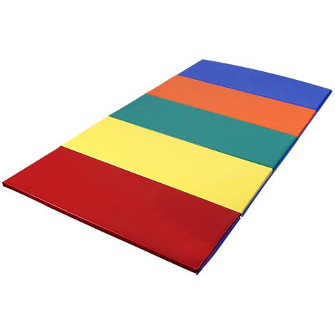 FlagHouse Rainbow Instructor Mat With 4 Side Hook And Loop Fasteners,5ft x 10ft,Each,15340