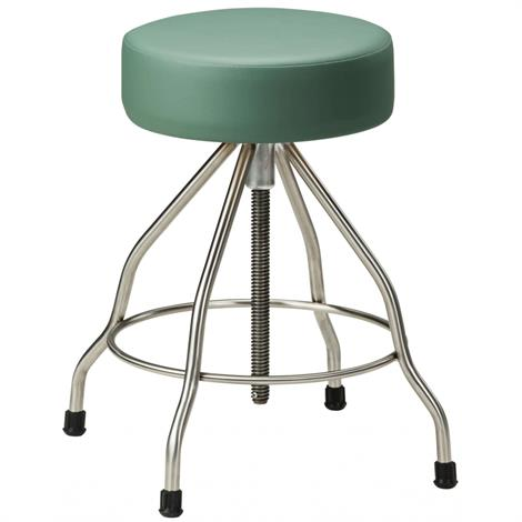 Clinton SS-2179 Stainless Steel Stool with Rubber Feet and Upholstered Top,Allspice (3AS),Each,SS-2179