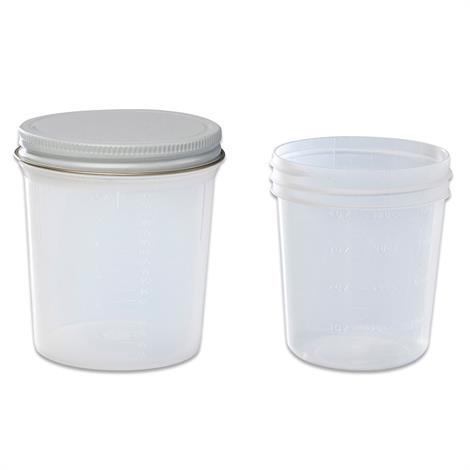 "Covidien Kendall Precision Premium Operating Room Specimen Container,4oz (118ml), 2-3/4"" x 2-1/2"" (7.0cm x 6.4cm),100/Case,2600SA"