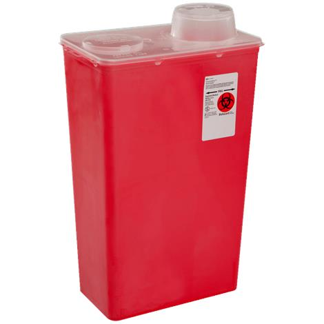 Covidien Kendall Monoject Sharps-A-Gator Chimney Top Sharps Container,14 Quart,10/Case,8881676434